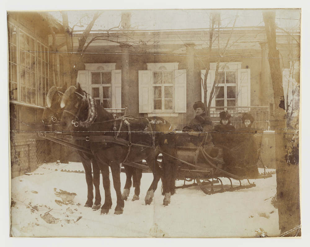 Transport in DonetskDonetsk in the 1900sA_horse-drawn_sleigh_outside_a_house,_Hughesovka,_about_1900